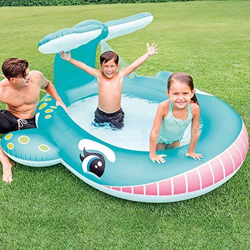 Intex Whale Spray Baby Pool, Multi Color - 2