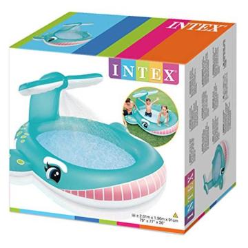 Intex Whale Spray Baby Pool, Multi Color - 5