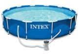 Intexi INTEX Familien Swimmingpool mit Metallrahmen 366 x 84cm Schwimmbecken-Set mit Filterpumpe und Zubehör - 1