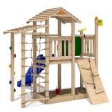 ISIDOR Bazzy Boo Spielturm Kletterturm Rutsche Schaukel Maltafel XL- Kletternetz (ohne Schaukelanbau) -