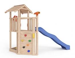ISIDOR Little Joe Spielturm Baumhaus Schaukel Kletterturm Rutsche 1,2 m Podest Inkl. Sandkasten, Kletterwand und Anbau-Auswahl! (ohne Anbau) - 1