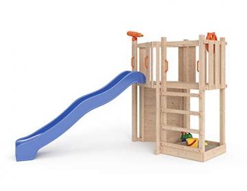 ISIDOR Little Star Spielturm Baumhaus Schaukel Kletterturm Rutsche 1,2 m Podest Inkl. Sandkasten, Kletterwand und Anbau-Auswahl! (ohne Anbau) - 2