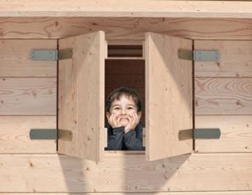 ISIDOR Spielturm FRIDOLINO Schaukelanbau mit XXL Rutsche in orange, Sandkasten, Balkon und Sicherheitstreppe auf 1,50 Meter Podesthöhe - 3