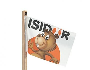 ISIDOR Spielturm Giraffico Aufstiegsauswahl (Leiter, Rampe, Treppe) und Schaukelanbau, Rutsche, Reckstange, hissbarer Fahne und Kletterwand auf 1,50 Meter Podesthöhe (Sprossenleiter, Orange) - 7