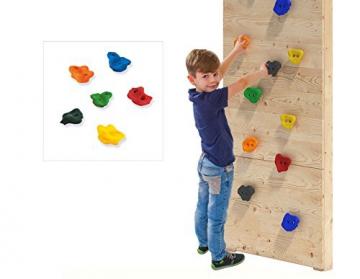 ISIDOR Spielturm Giraffico Aufstiegsauswahl (Leiter, Rampe, Treppe) und Schaukelanbau, Rutsche, Reckstange, hissbarer Fahne und Kletterwand auf 1,50 Meter Podesthöhe (Sprossenleiter, Orange) - 3