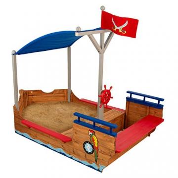 KidKraft 128 Piratenschiff Sandkasten aus Holz Gartenmöbel für Kinder - 1