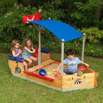 KidKraft 128 Piratenschiff Sandkasten aus Holz Gartenmöbel für Kinder - 4