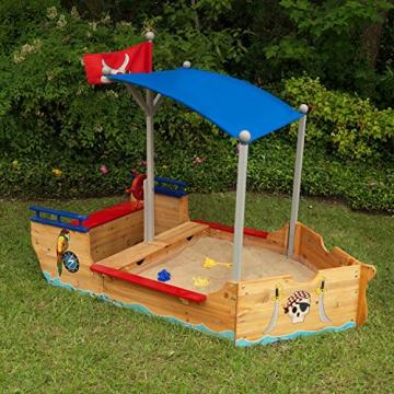 KidKraft 128 Piratenschiff Sandkasten aus Holz Gartenmöbel für Kinder - 5