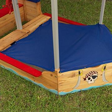 KidKraft 128 Piratenschiff Sandkasten aus Holz Gartenmöbel für Kinder - 6