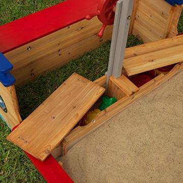 KidKraft 128 Piratenschiff Sandkasten aus Holz Gartenmöbel für Kinder - 7