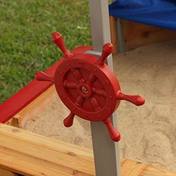 KidKraft 128 Piratenschiff Sandkasten aus Holz Gartenmöbel für Kinder - 8