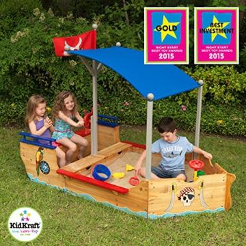 KidKraft 128 Piratenschiff Sandkasten aus Holz Gartenmöbel für Kinder - 9