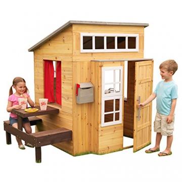 KidKraft 182 Modernes Outdoor Garten-Spielhaus aus Holz für Kinder mit Spielküche und weiterem Zubehör - 2