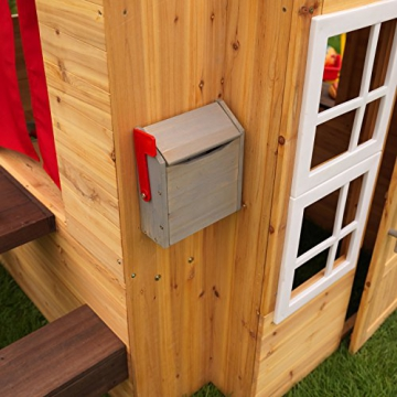 KidKraft 182 Modernes Outdoor Garten-Spielhaus aus Holz für Kinder mit Spielküche und weiterem Zubehör - 12