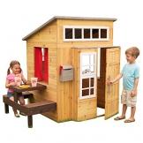 KidKraft 182 Modernes Outdoor Garten-Spielhaus aus Holz für Kinder mit Spielküche und weiterem Zubehör - 1
