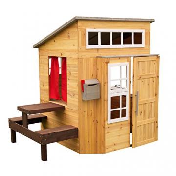 KidKraft 182 Modernes Outdoor Garten-Spielhaus aus Holz für Kinder mit Spielküche und weiterem Zubehör - 3