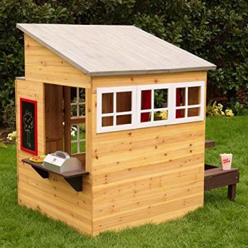 KidKraft 182 Modernes Outdoor Garten-Spielhaus aus Holz für Kinder mit Spielküche und weiterem Zubehör - 6