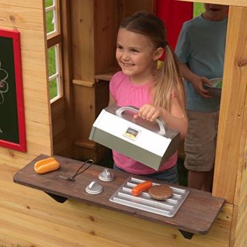 KidKraft 182 Modernes Outdoor Garten-Spielhaus aus Holz für Kinder mit Spielküche und weiterem Zubehör - 7