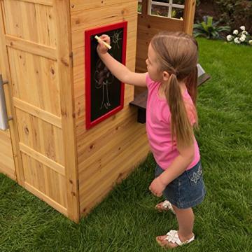 KidKraft 182 Modernes Outdoor Garten-Spielhaus aus Holz für Kinder mit Spielküche und weiterem Zubehör - 8