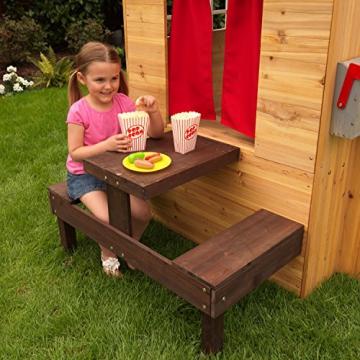 KidKraft 182 Modernes Outdoor Garten-Spielhaus aus Holz für Kinder mit Spielküche und weiterem Zubehör - 9