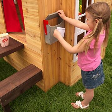 KidKraft 182 Modernes Outdoor Garten-Spielhaus aus Holz für Kinder mit Spielküche und weiterem Zubehör - 10