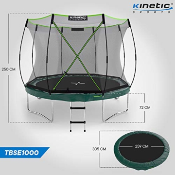 Kinetic Sports Gartentrampolin TBSE1000, 305 cm, grün - 7