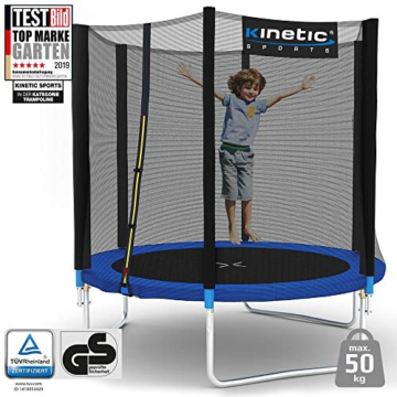 Kinetic Sports Gartentrampolin TPLH06 (Ø 183 cm, blau) - 6