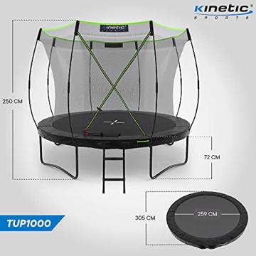 Kinetic Sports Gartentrampolin TUP1000, 305 cm, Black - 7