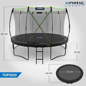 Kinetic Sports Gartentrampolin TUP1200, 366 cm, Black - 7
