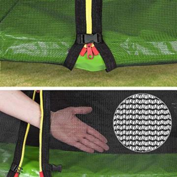 Kinetic Sports Outdoor Gartentrampolin Ø 244, TPLS08, inklusive Sprungtuch aus USA PP-Mesh +Sicherheitsnetz +Rand- u. Regen-Abdeckung +Leiter, bis 120kg, GS-geprüft,UV-beständig, GRÜN - 2