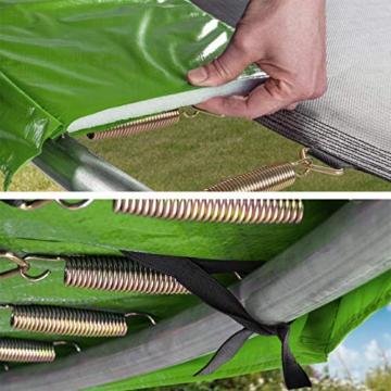 Kinetic Sports Outdoor Gartentrampolin Ø 244, TPLS08, inklusive Sprungtuch aus USA PP-Mesh +Sicherheitsnetz +Rand- u. Regen-Abdeckung +Leiter, bis 120kg, GS-geprüft,UV-beständig, GRÜN - 5
