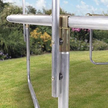Kinetic Sports Outdoor Gartentrampolin Ø 305, TPLS10, inklusive Sprungtuch aus USA PP-Mesh +Sicherheitsnetz +Rand- u. Regen-Abdeckung +Leiter, bis 150kg, Intertek GS-geprüft, UV-beständig, PINK - 2