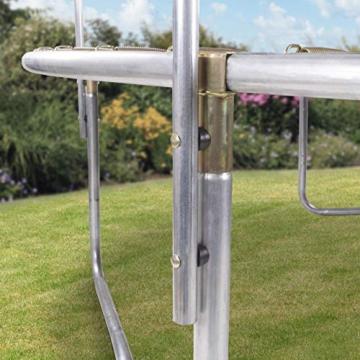 Kinetic Sports Outdoor Gartentrampolin Ø 305, TPLS10, inklusive Sprungtuch aus USA PP-Mesh +Sicherheitsnetz +Rand- u. Regen-Abdeckung +Leiter, bis 160kg, GS-geprüft,UV-beständig, SCHWARZ - 2