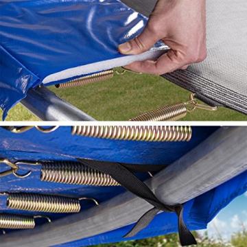 Kinetic Sports Outdoor Trampolin TPLH13 Gartentrampolin für Kinder und Erwachsene mit Randabdeckung und Sicherheitsnetz Ø 400 cm - 3