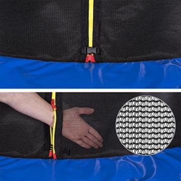 Kinetic Sports Outdoor Trampolin TPLH13 Gartentrampolin für Kinder und Erwachsene mit Randabdeckung und Sicherheitsnetz Ø 400 cm - 4