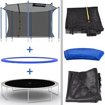 Kinetic Sports Outdoor Trampolin TPLH13 Gartentrampolin für Kinder und Erwachsene mit Randabdeckung und Sicherheitsnetz Ø 400 cm - 5