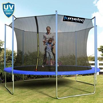 Kinetic Sports Outdoor Trampolin TPLH13 Gartentrampolin für Kinder und Erwachsene mit Randabdeckung und Sicherheitsnetz Ø 400 cm - 6