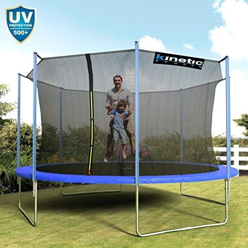 Kinetic Sports Outdoor Trampolin TPLH14 Gartentrampolin für Kinder und Erwachsene mit Randabdeckung und Sicherheitsnetz Ø 430 cm - 2