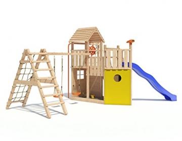 Kon Tiki Neo Spielturm Kletterturm Baumhaus Rutsche Schaukeln (erweiterter Schaukelanbau) -