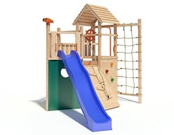 Kon Tiki Neo Spielturm Kletterturm Baumhaus Rutsche Schaukeln (ohne Schaukelanbau) -