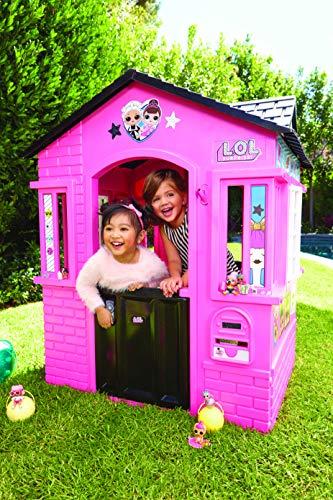 little tikes 650420M Kinder Spielhaus mit Glitzer im L.O.L. Surprise! Design - mit Fenstern und Türen, ideal für drinnen und draußen, extra robust und wetterfest, pink - 2
