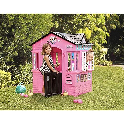 little tikes 650420M Kinder Spielhaus mit Glitzer im L.O.L. Surprise! Design - mit Fenstern und Türen, ideal für drinnen und draußen, extra robust und wetterfest, pink - 3