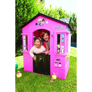 little tikes 650420M Kinder Spielhaus mit Glitzer im L.O.L. Surprise! Design - mit Fenstern und Türen, ideal für drinnen und draußen, extra robust und wetterfest, pink - 5