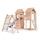 MIRADORI Spielturm Spielhaus Rutsche Schaukel Kletterturm 1,50m Podest (erweiterter Schaukelanbau) -