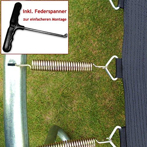 Monzana Gartentrampolin Trampolin | TÜV SÜD GS zertifiziert | Ø 426 cm | Komplettset inkl. Sicherheitsnetz, Leiter, Federabdeckung & Zubehör - Kindertrampolin - 3