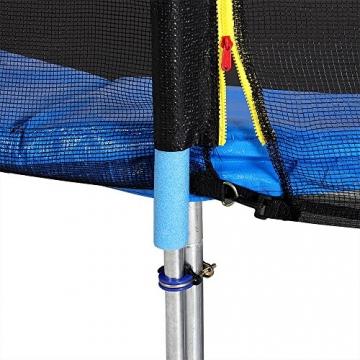 Monzana Gartentrampolin Trampolin | TÜV SÜD GS zertifiziert | Ø 426 cm | Komplettset inkl. Sicherheitsnetz, Leiter, Federabdeckung & Zubehör - Kindertrampolin - 7