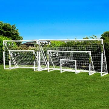 Net World Sports Forza - 2,4 x 1,8 m wetterfestes Fußballtor Abnehmbarer Torwand bestellbar (Forzator 2.4x1.8m) - 9
