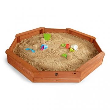 Plum Kinder gigantischer Sandkasten achteckig mit 4 Sitzbänken, 25058 -