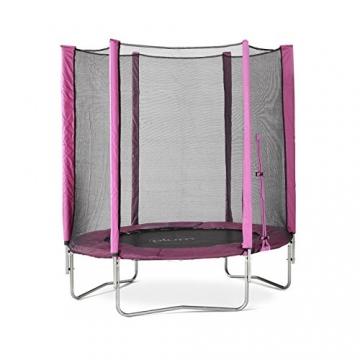 Plum Products Trampolin mit Sicherheitsnetz, Durchmesser 1,8 Meter, rosa -