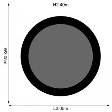 Plum Trampolin für Kinder mit 3G-Sicherheitsnetz, Herren, schwarz, 244 cm -